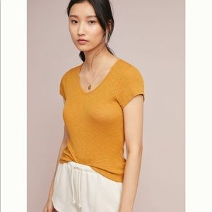 Anthropologie Sundry Cap Sleeve Tee